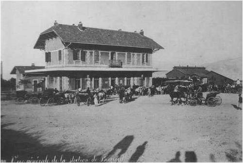 Beirut train station in 1896